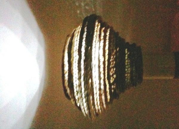 DIY Cardboard Lamp Shades