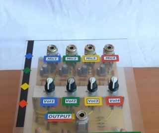 4 Microphones Mixer Preamplifier