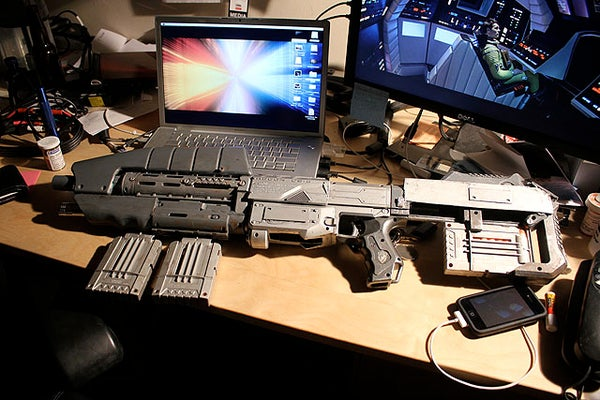 How to Make a Cool Halo Assult Rifle!!!