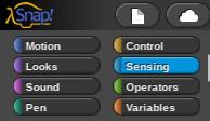 Sensors Are Run by the Blue Sensing Programming Blocks
