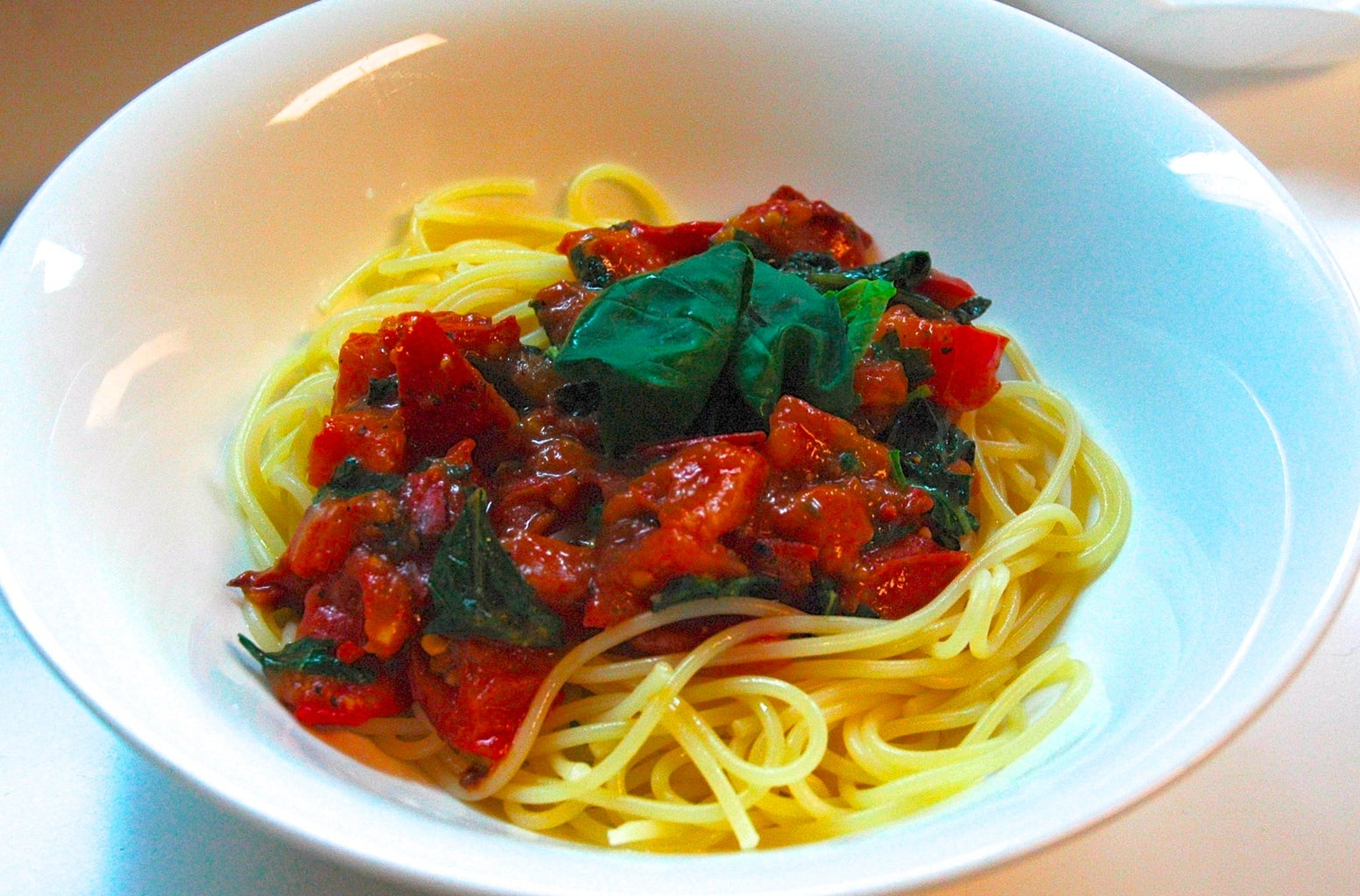 Combine Pasta and Sauce