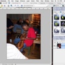 Designing fabric portaits/quilts using photoshop