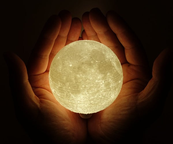 High Detailed Moon Lamp