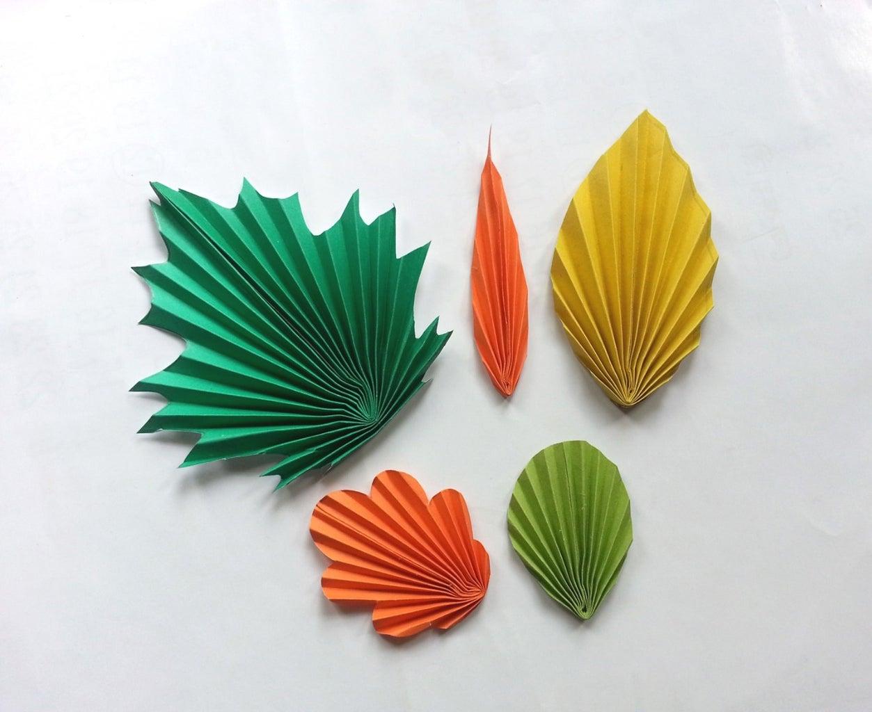 DIY Paper Leaves (Pattern Trick!)