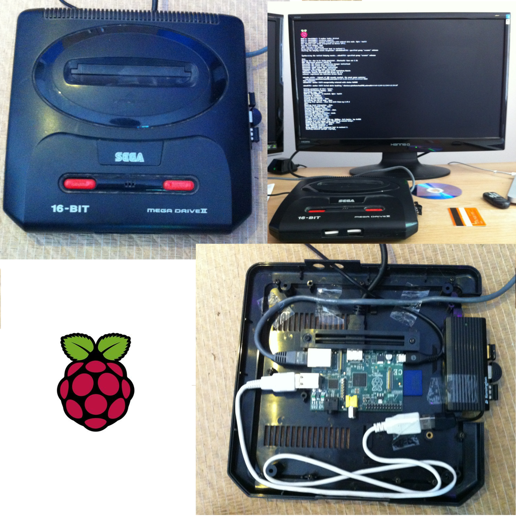Raspberry Pi Sega Mega Drive/Genesis II Case