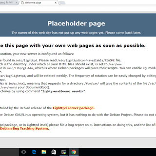 Setup a Raspberry Pi PHP Web Server