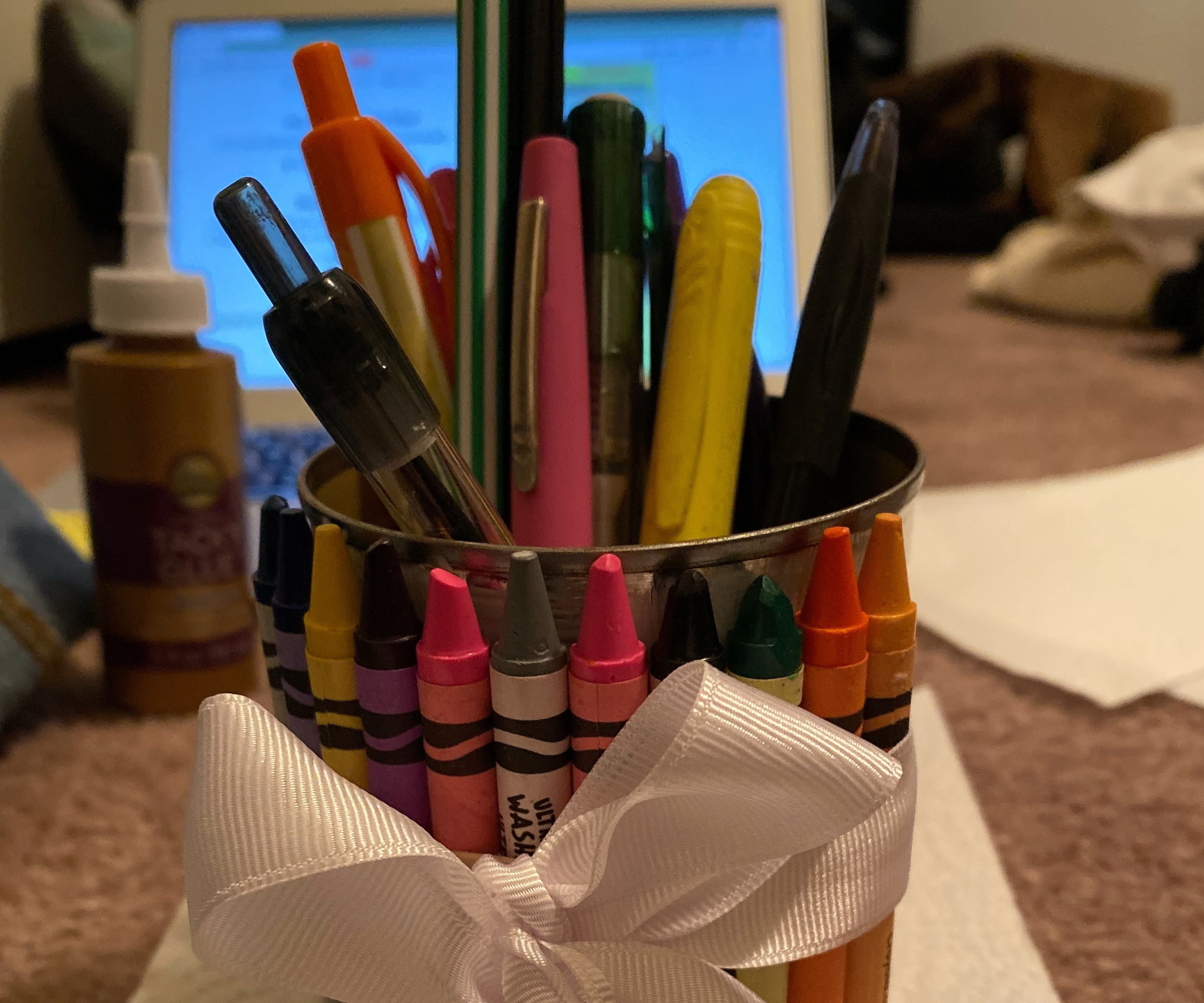 How to Make a Crayon Pencil Holder