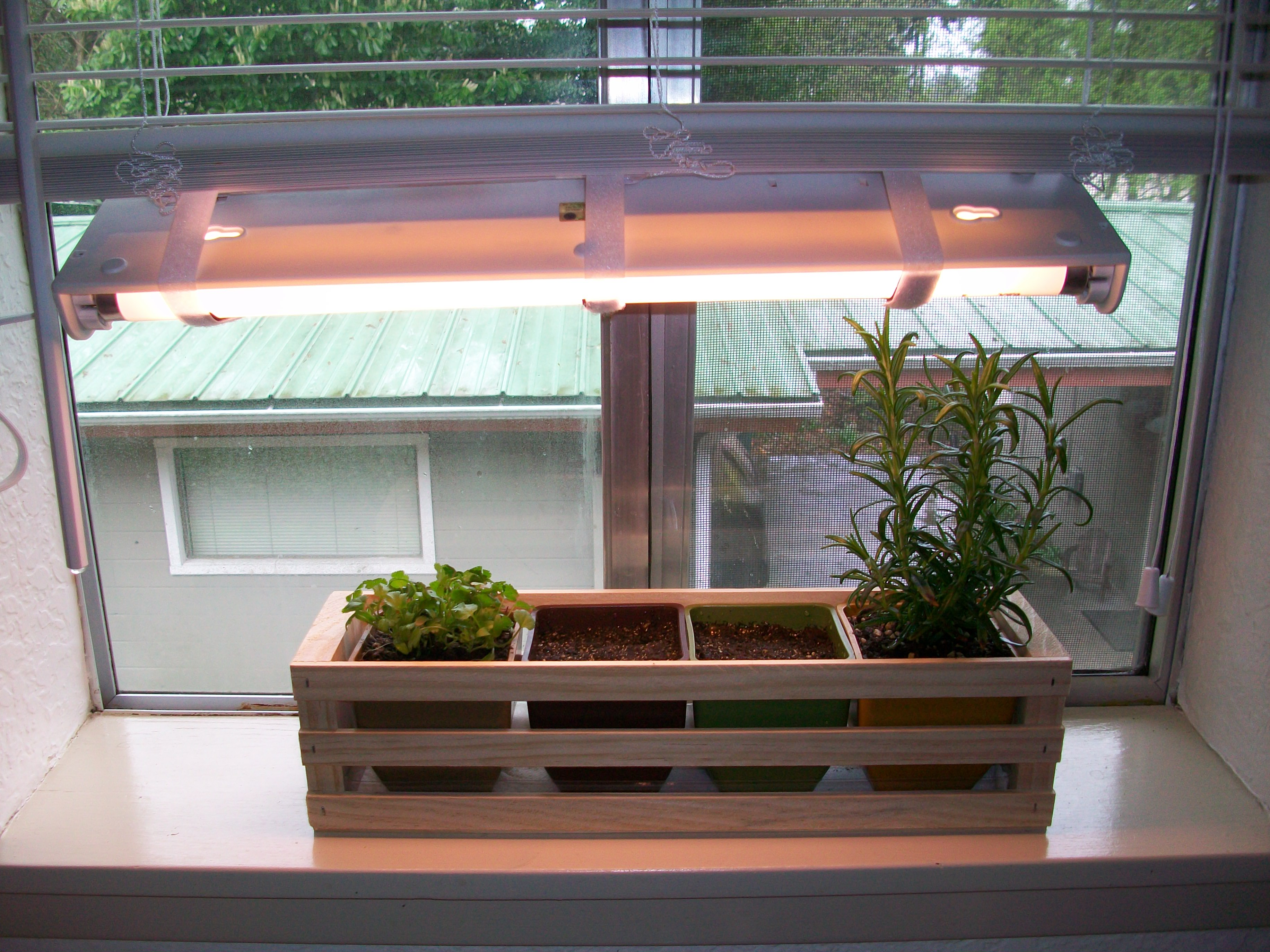 Simple Indoor Herb Garden With Adjustable Grow Light 5 Steps With Pictures Instructables