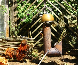 How to Make an Artistic 'J' Rocket From Scrap Metal - Rooster/Cockerel Rocket