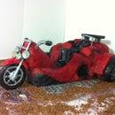 Red Trikebike Motorcycle Cake