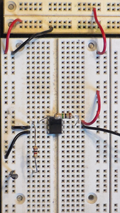 Connect the Amplifier Circuit From the Schematic Below One Part of the Proto-typing Board.