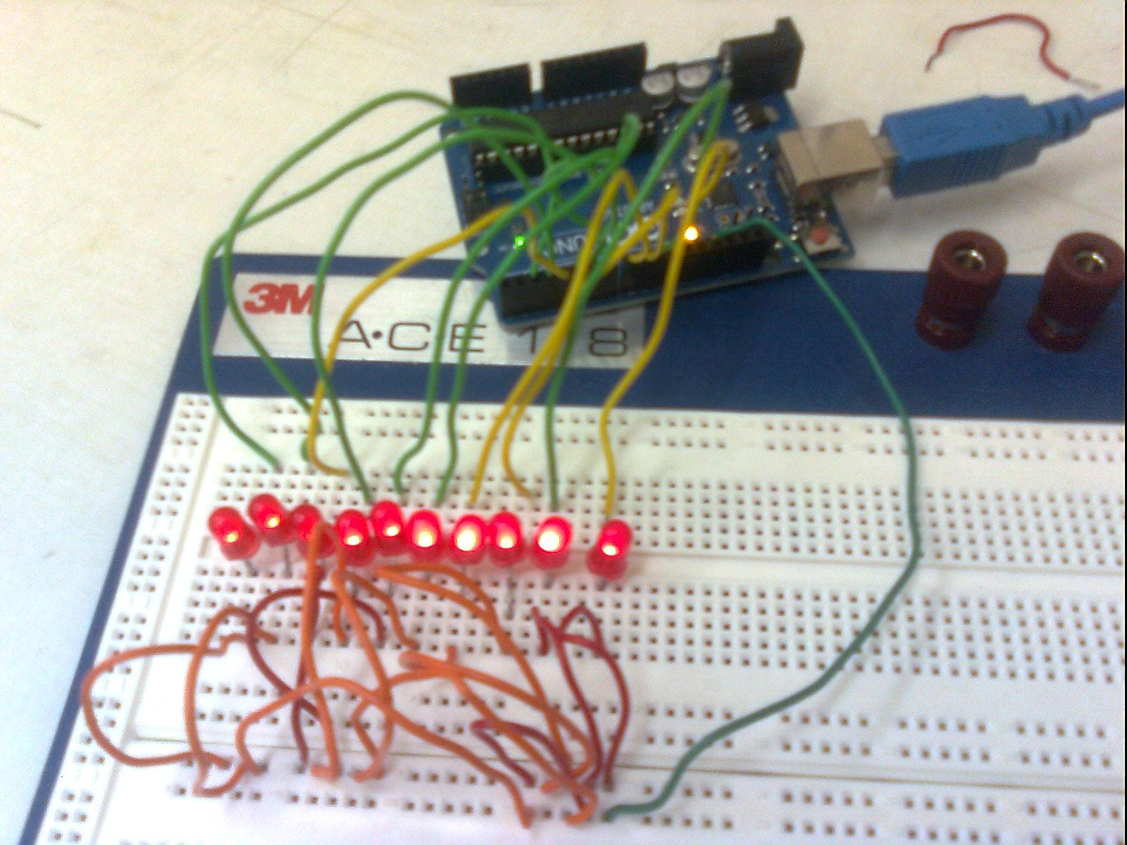 Making 1x10 LED Array with Random Patterns