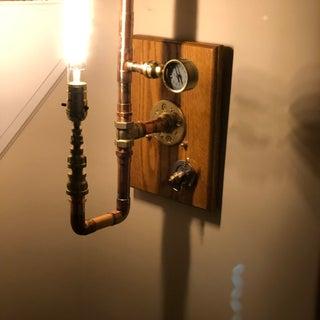 Brass Industrial Lamp