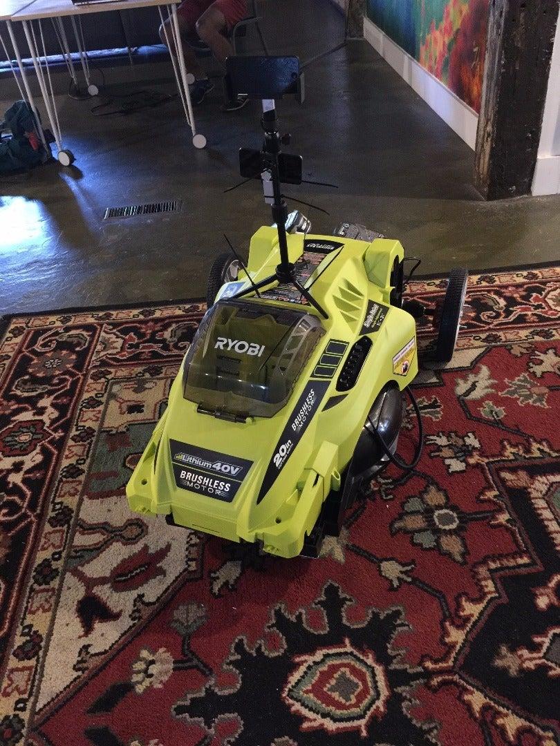 Self Driveing Lawn Mower Remote Control Autonomous Lawn Mower Using RaspberryPi