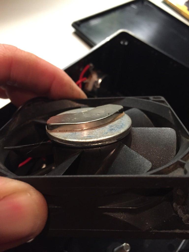 Glue Magnet to Fan