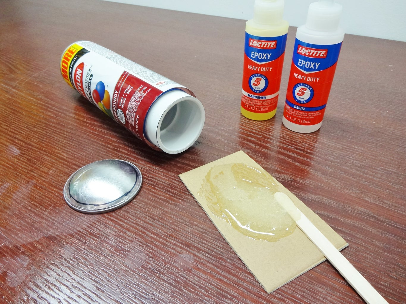 Glue Can Bottom to PVC