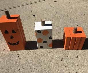 Decorative Wooden Pumpkins