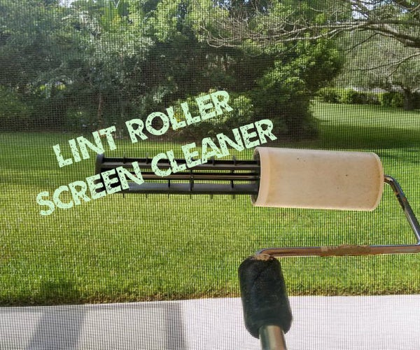 Lint Roller Patio Screen Cleaner