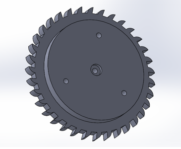 """Use """"Hole Wizard"""" to Create an M5 Counterbore Hole in the Center"""