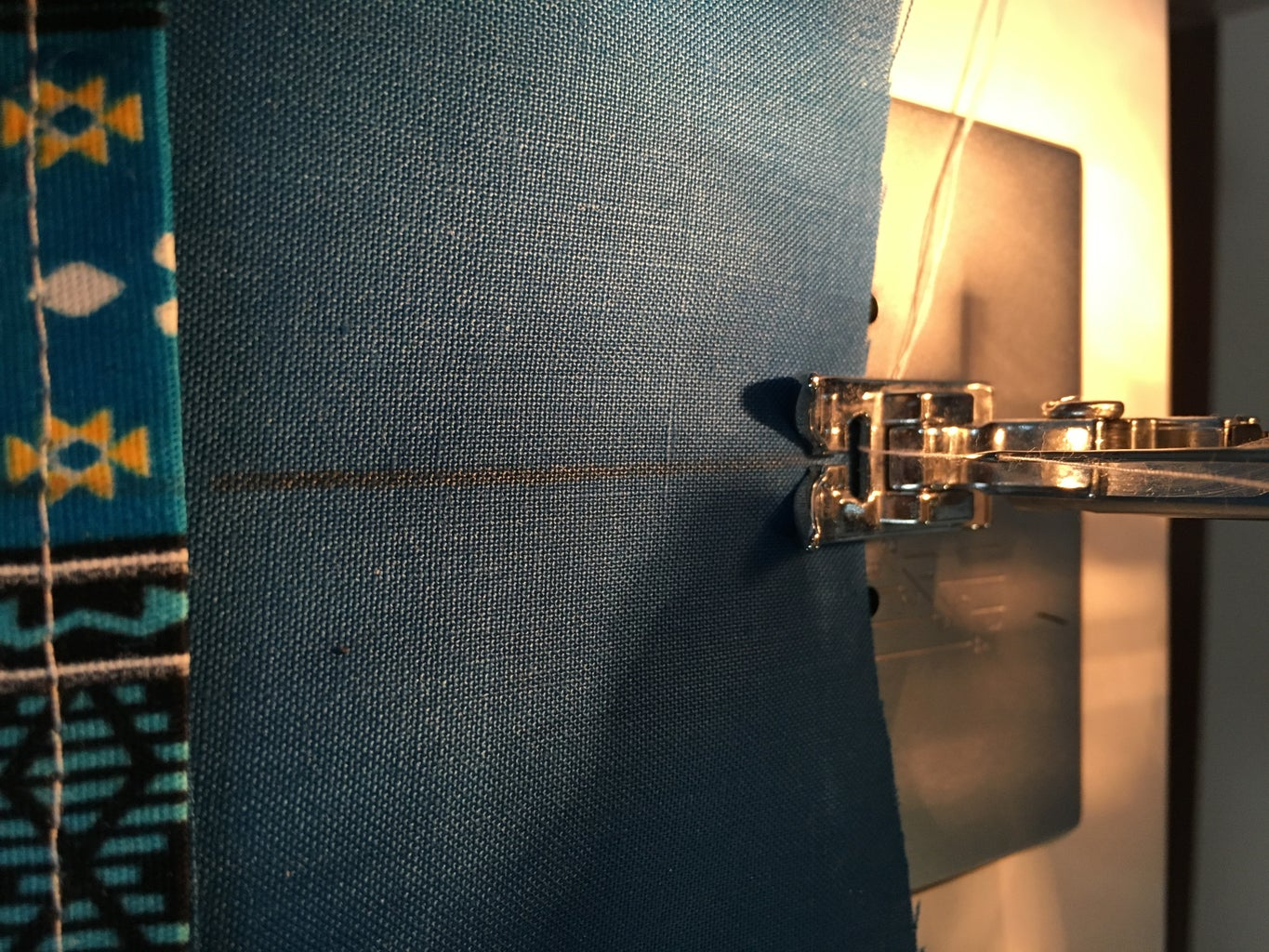 Sewing Down the Middle of Piece