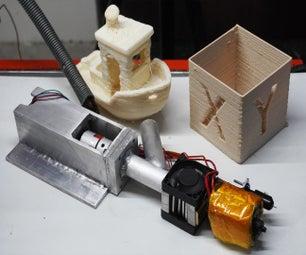 用于3D打印机的自制颗粒挤出机