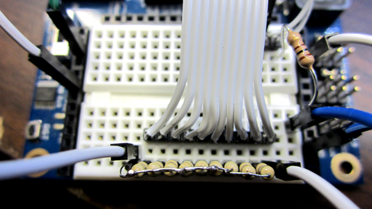 Connect the LED Reader Portions on the Breadboard