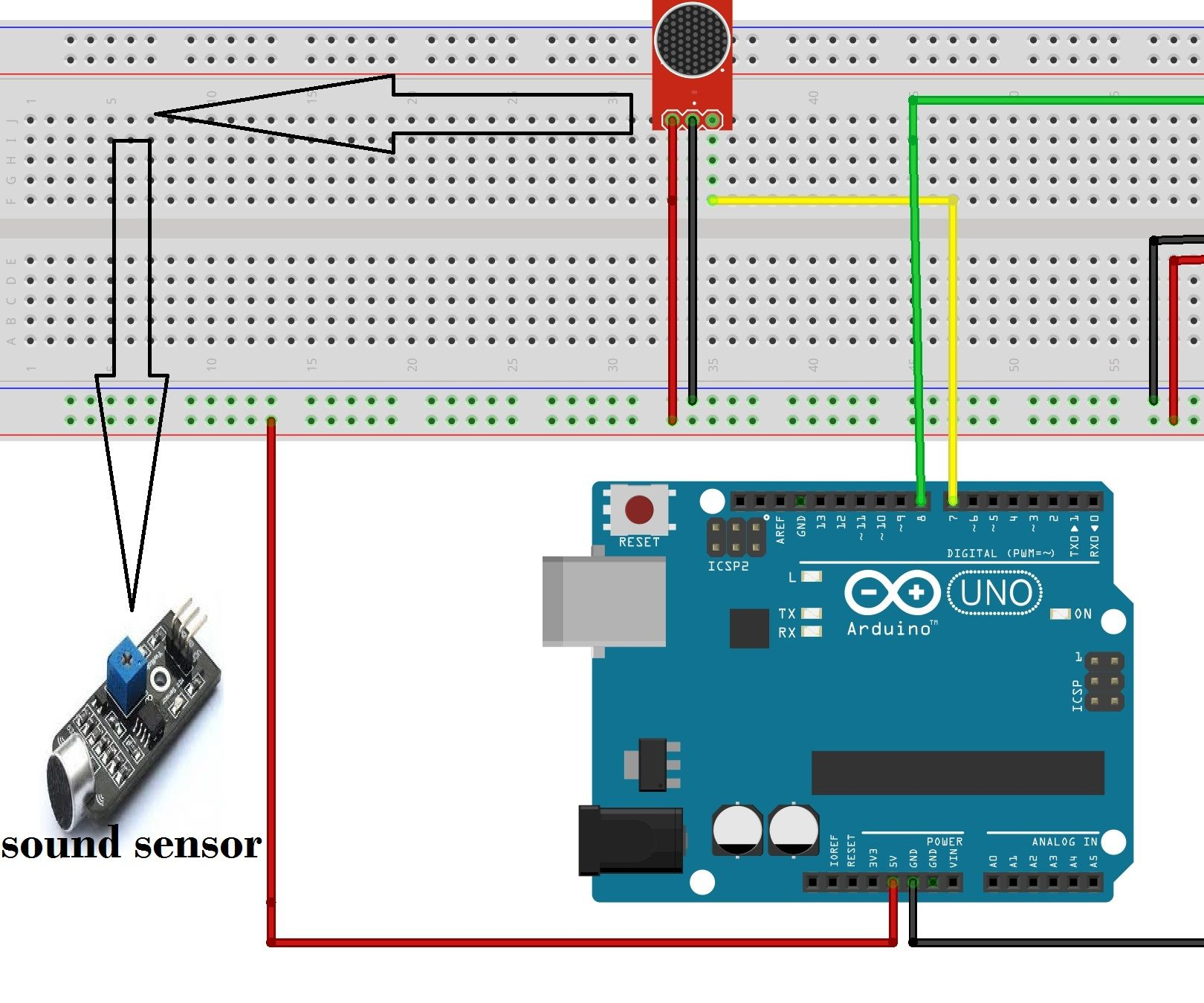 How to turn ON AC light and Fan by clap using Arduino and sound sensor