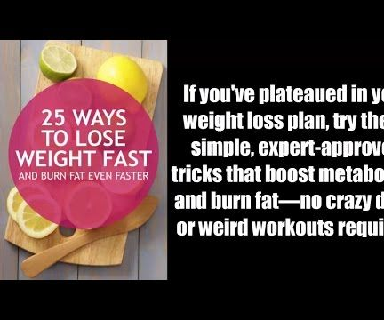 25 Ways to Lose Weight Fast