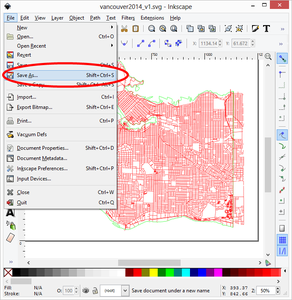 Clean Up the Map in InkScape