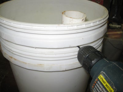 Attaching the PVC Fill Pipe