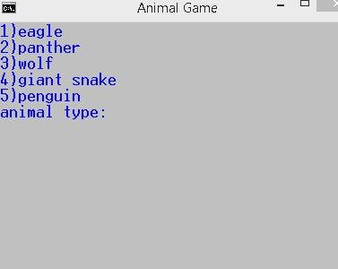 Animal Game 2.0