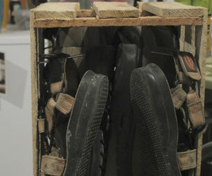 Shoe Rack in a Crate, 5 Minutes