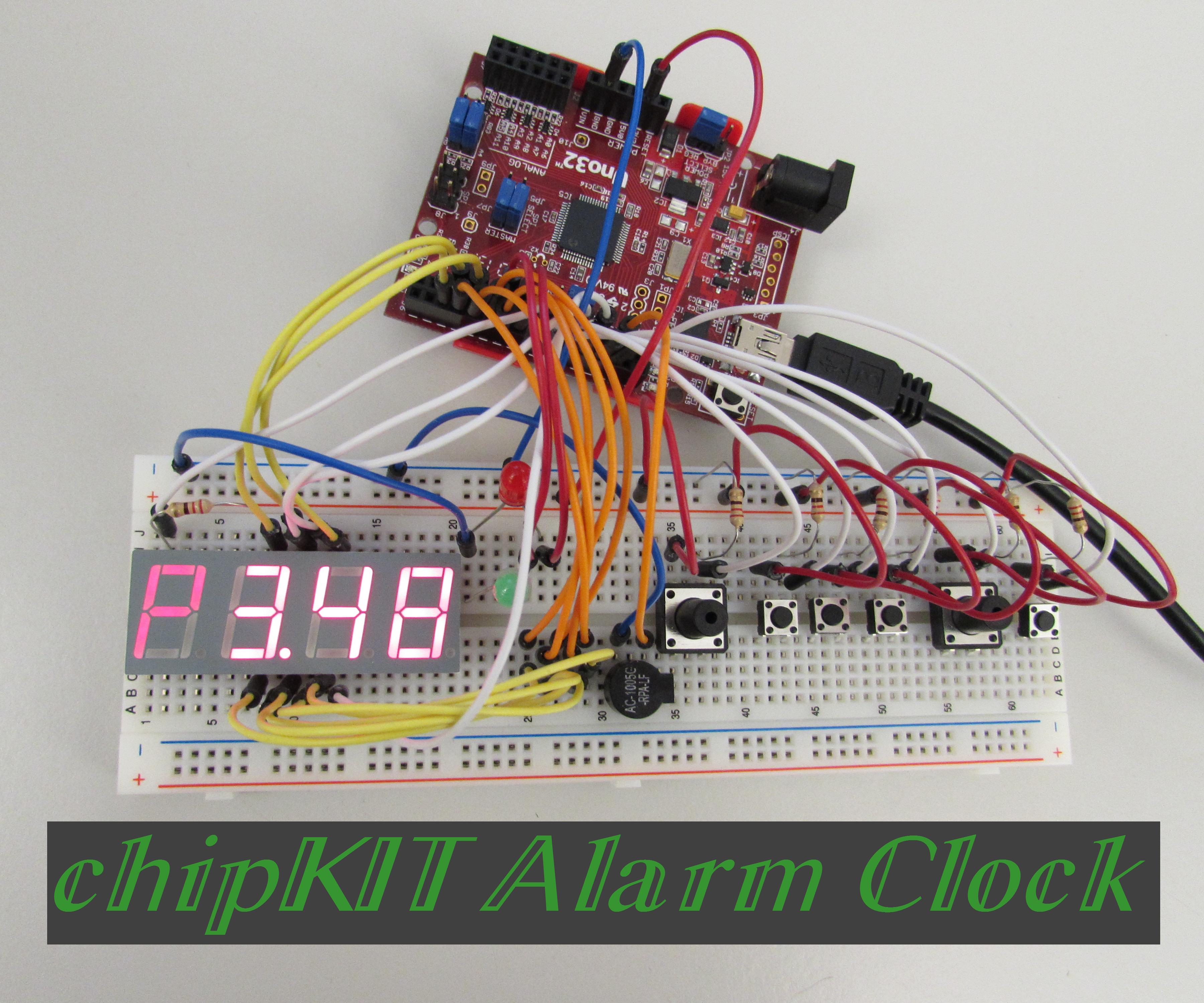 chipKIT Alarm Clock
