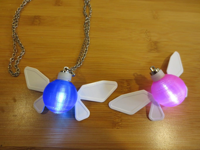 Zelda Navi Fairy LED Necklace/Ornament