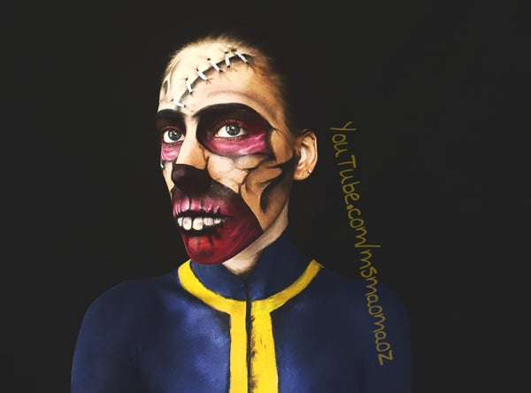 Fallout 3 Ghoul Mask Makeup Transformation