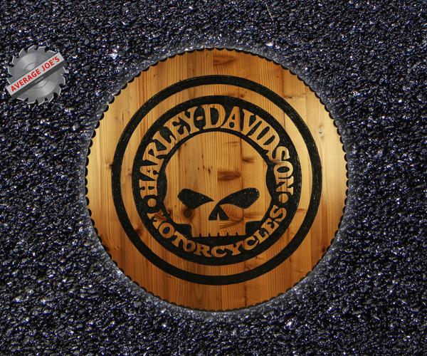 Wooden Harley Davidson Sign