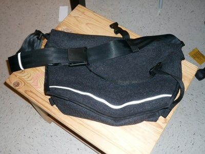 Lined Messenger Bag