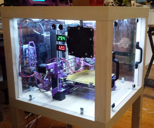 3d Printer Enclosure From Upcycled Furniture