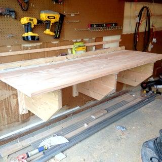 Make a Cheap Fold-down Workbench