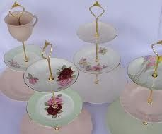 Create a vintage cake stand