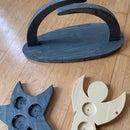 Wooden Decoration: Star, Angel, Schwippbogen