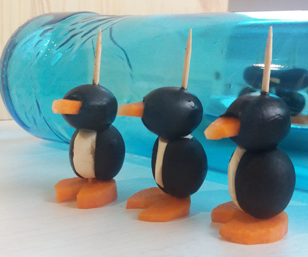 "Low-Calorie Appetizer ""Penguins"""