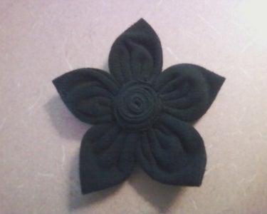 Black Fabric Flowers