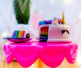 Adorable Miniature Unicorn Clay Cake