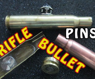 DIY Rifle and Bullet Pin Jewelry