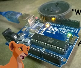 """""""We Are One"""" (The Lion King 2) Tone Using Arduino"""