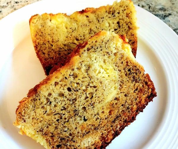 Cheesecake Marble Banana Bread