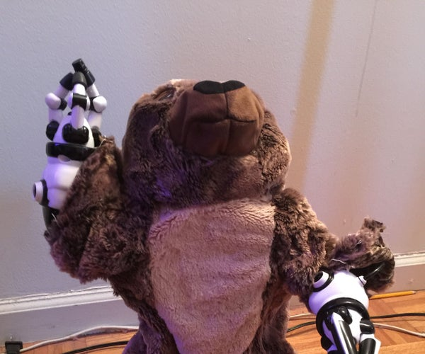 Intel Edison Powered Walking Teddy Bear