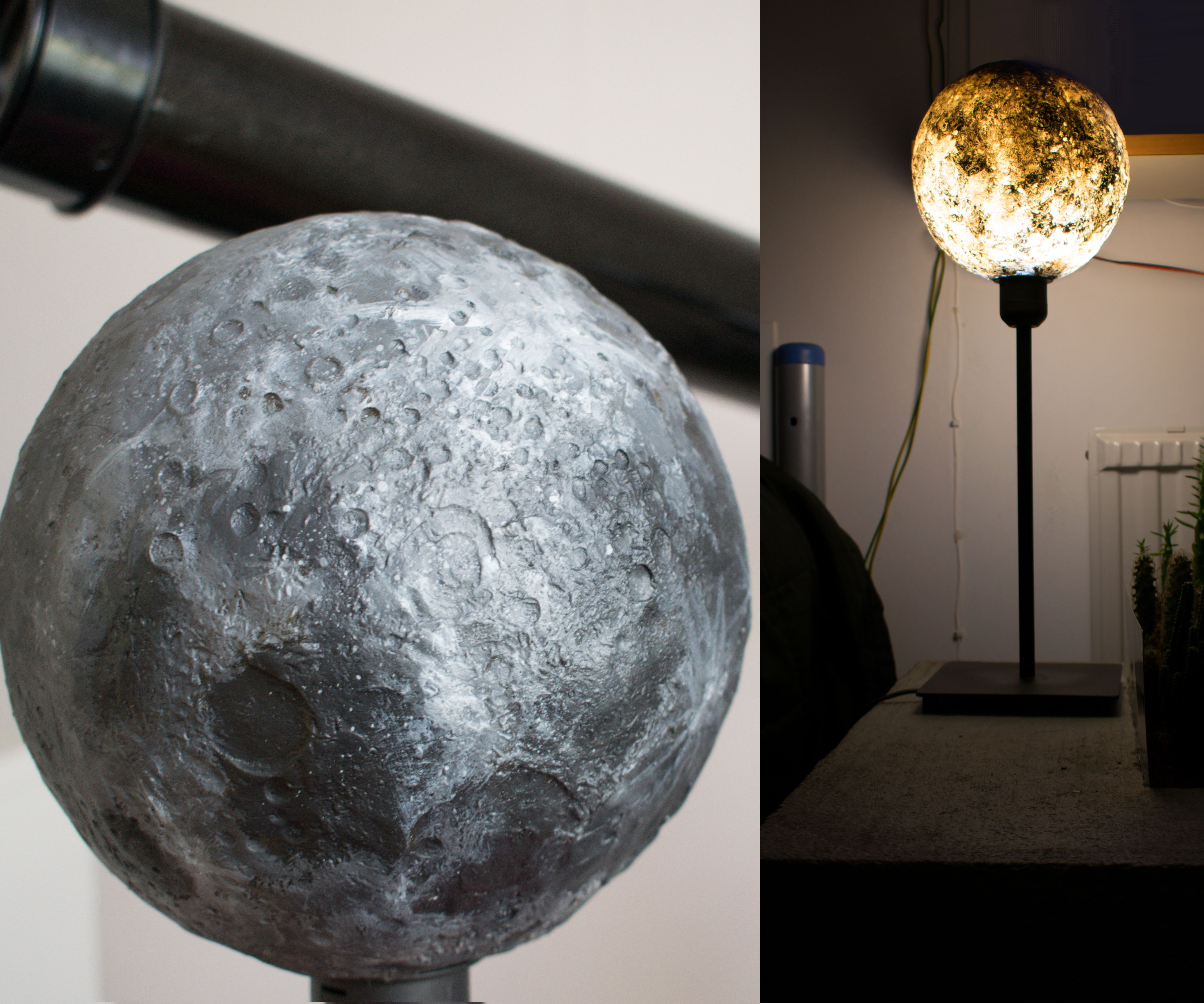 3D Moon Lamp (Concrete&Resin)