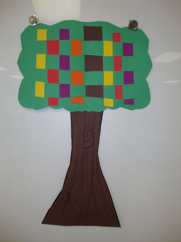 Tree Weaving: Elementary School Art Project